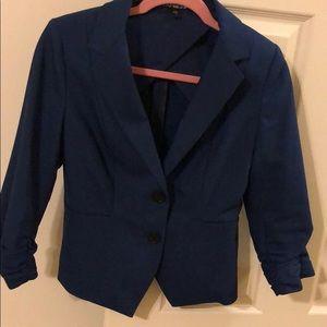 3/4 ruched sleeve blazer